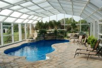 Indoor Pool Setting with our Retractable Pool Enclosures ...
