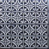 "Gothic Reims - Faux Tin Ceiling Tile - Glue up - 24""x24 ..."