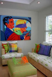 Contemporary Pop Art - Contemporary - Living Room ...