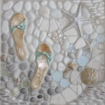 Bathroom Mosaic Tile Murals Beach