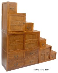Oriental Japanese Style Step Tansu Cabinet - Asian - China ...