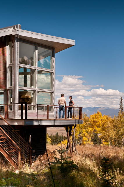 Outdoor Lighting Houzz Modern Mountain Cabin - Contemporary - Exterior - Denver