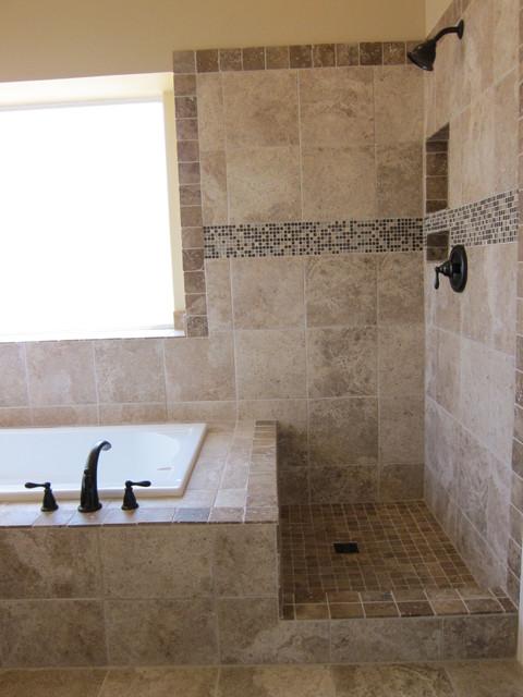 Shower and tub master bathroom remodel traditional bathroom