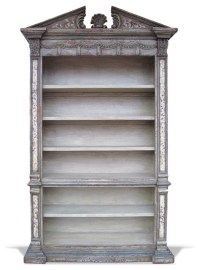 Old World French Bookcase Venetian, Grey Distressed ...