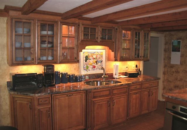 Country Gray Kitchen Cabinets 1800s Home Kitchen