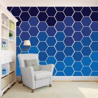 Honeycomb Hexagon Wall Pattern - Wall Decal