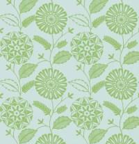 Resort Green Modern Floral Wallpaper - Contemporary ...