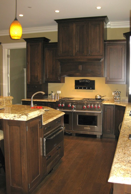 Yellow Kitchen With Dark Brown Cabinets What Other Wall Colors Beside Yellow Tones Will Look Good