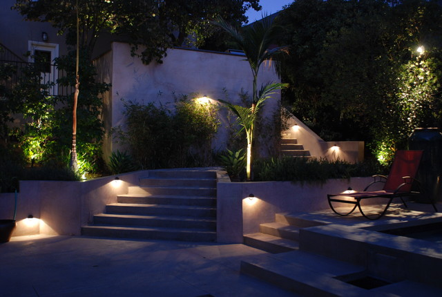 Projecteur Led Exterieur Moderne Modern Staircase Lighting - Contemporary - Landscape - Los