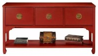 Wuchow Three-Drawer File Console - Asian - Filing Cabinets ...