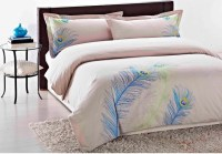 Embroidered Peacock King-Size 3-Piece Duvet Cover Set ...
