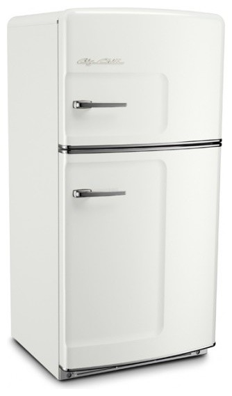 Original big chill retro refrigerator white modern