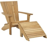 Vista Adirondack Chair with Ottoman - Contemporary ...