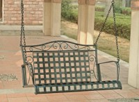 Wrought Iron Patio Swing - Porch Swings - by Overstock.com