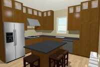 9-foot Ceiling Dilemma: Cabinets stacked to ceiling or ...