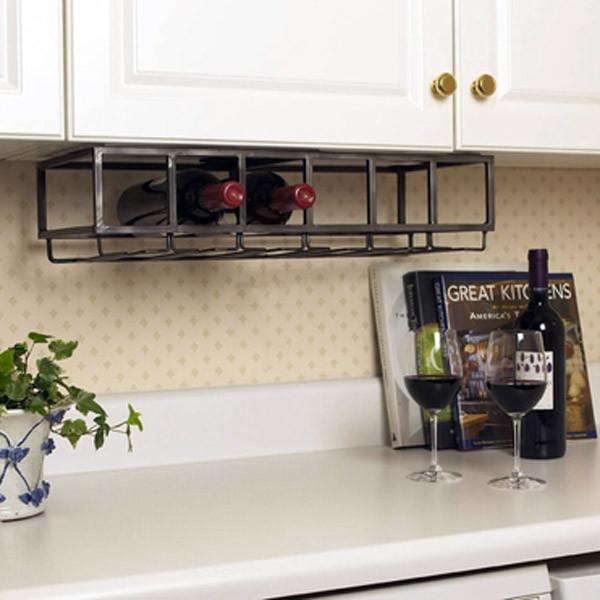 Six Bottle Under Cabinet Wine Rack