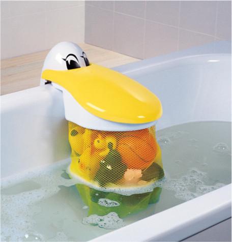 Pelican Bath Toy Storage Pouch Eclectic Kids Bathroom
