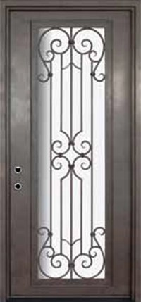 Milano 42x96 Wrought Iron Single Door 14 Gauge Steel ...