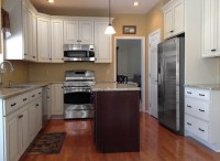 Painted Linen & Cherry Kitchen - Traditional - Kitchen ...