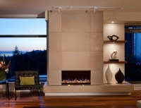 Concrete Fireplace Tiles - Contemporary - calgary - by ...