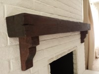 Distressed Beam Mantel Shelves