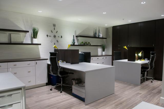 Stylish Home Office Interior Design - Home Design Jobs - modern home office ideas