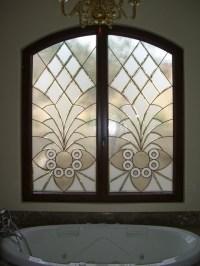 "Bathroom Windows - ""Arabesque Bevels"" Leaded Beveled Glass ..."