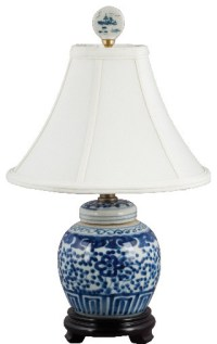 Small Blue and white lamp - Asian - Table Lamps - by Shan ...