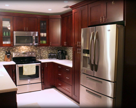 transitional kitchen design photos dark wood cabinets inspiration small transitional shaped kitchen remodel