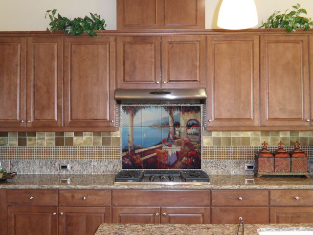 kitchen backsplash tile mural mediterranean kitchen chicago ceramic tile mural kitchen tiles