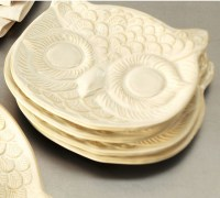 White Owl Plate - Eclectic - Dinner Plates - by Pottery Barn