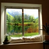 Decorating basement window wells
