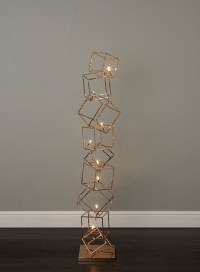 Dexter 8-Light Copper Cube Floor Lamp - Contemporary ...