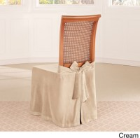 Sure Fit Soft Touch Velvet Dining Chair Skirt ...