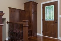 Front Door Coat Rack and Bench Seat - Traditional - Entry ...