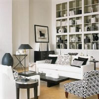 Black & White living room - Contemporary - Living Room ...