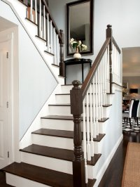 White Stair Railing Design Ideas, Pictures, Remodel and Decor