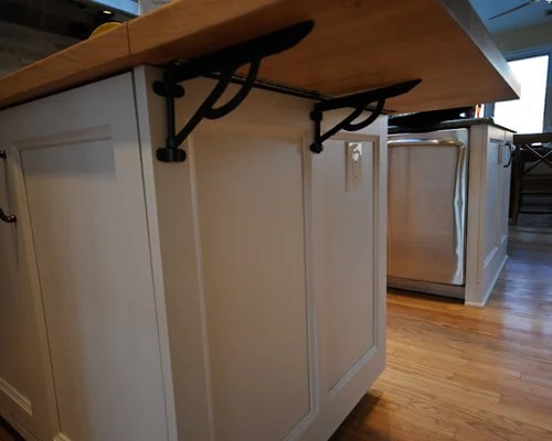 How To Build A Kitchen Island Cart Flip Up Countertop | Houzz