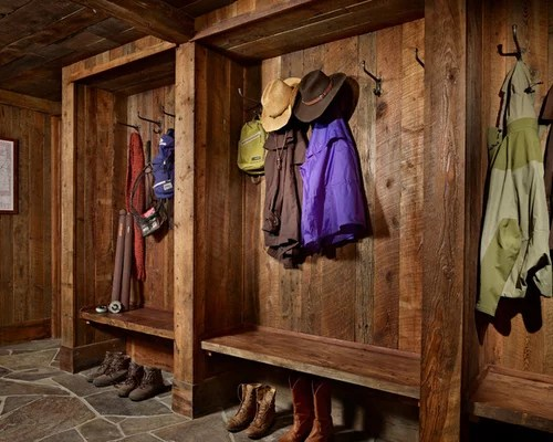 Mudroom Ideas Rustic Mudroom | Houzz