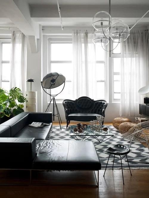 Modern Black Living Room Furniture Houzz - houzz living room furniture