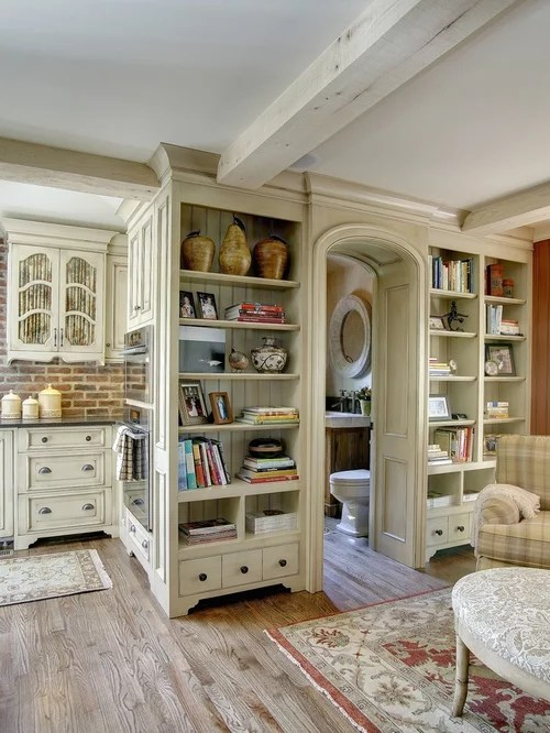 Built In Wall Hutch Houzz - living room hutch