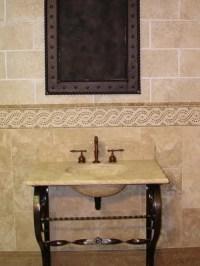 Vanities wrought iron and stone