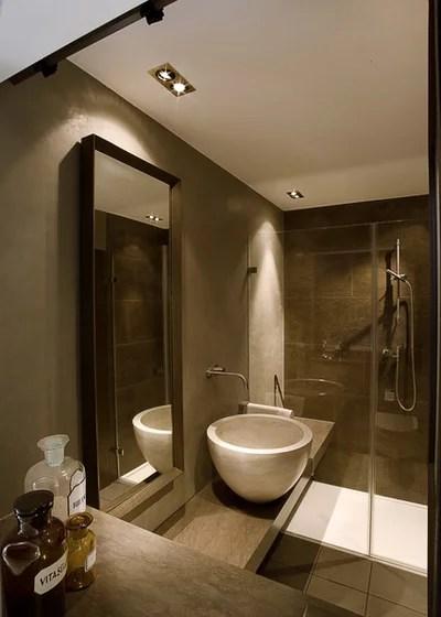Toll Ein Mini Bad Kommt Mit Naturstein Groß Raus!   Badezimmer 3 Quadratmeter