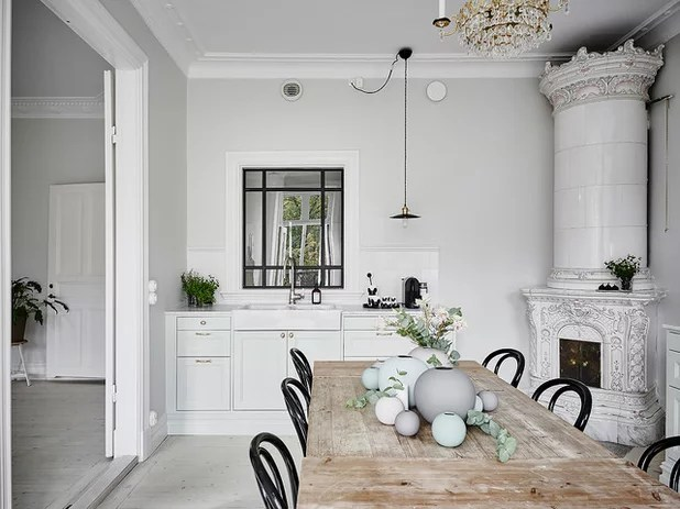 Tapete Skandinavischer Stil Bye-bye, Minimalist White — The New Nordic Style Is All