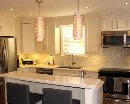 small kitch home design ideas renovations photos inspiration small transitional shaped kitchen remodel