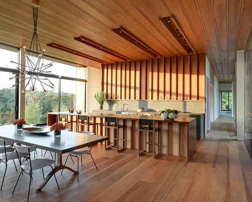 modern wood teak dining table kitchen design ideas remodels small eat kitchen design photos