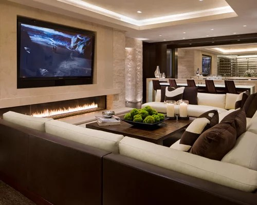 30 Best Contemporary Family Room with a Bar Ideas \ Designs Houzz - bar ideas for living room