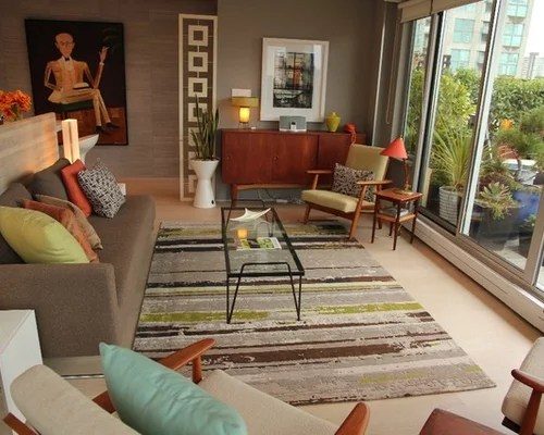 Retro Living Room Houzz - retro living room furniture
