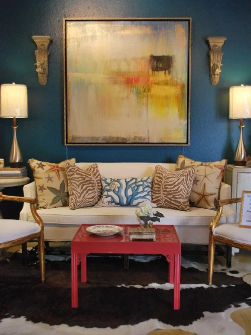 Decorating Long Walls Houzz - how to decorate a long wall in living room