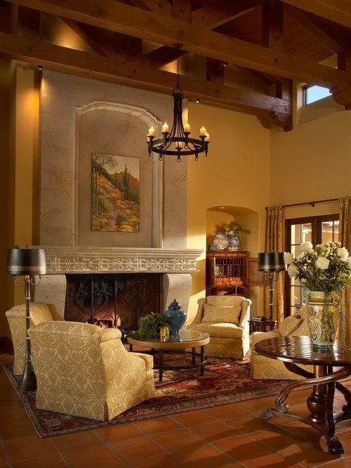 Austin Stone Fireplace Santa Barbara-style Ideas, Pictures, Remodel And Decor